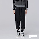 gozo 百搭低檔毛料老爺褲(深藍)