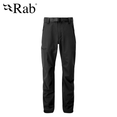 【RAB】Vector Pants 防潑水彈性耐用長褲 男款 黑 #QFU18