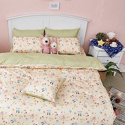戀家小舖 / 雙人床包兩用被組  妮妮公主  100%精梳棉  台灣製