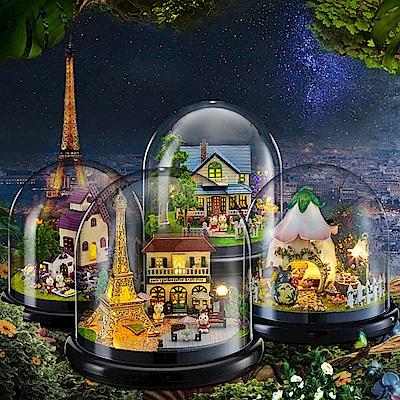 半島良品 DIY微景觀LED燈精緻小屋 (九款)