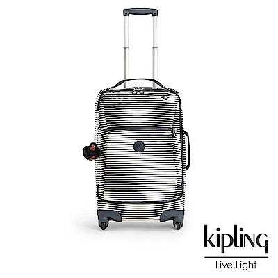 Kipling 時尚輕旅行李箱21吋 復古條紋印花-大