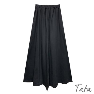 素色鬆緊腰寬褲 共二色 TATA-F