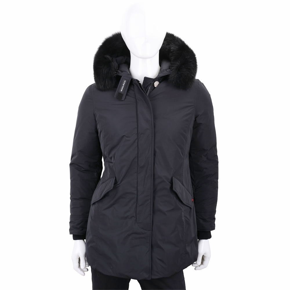 Woolrich Luxury Arctic Parka 可拆狐狸毛領黑色連帽羽絨外套(男/女可用)