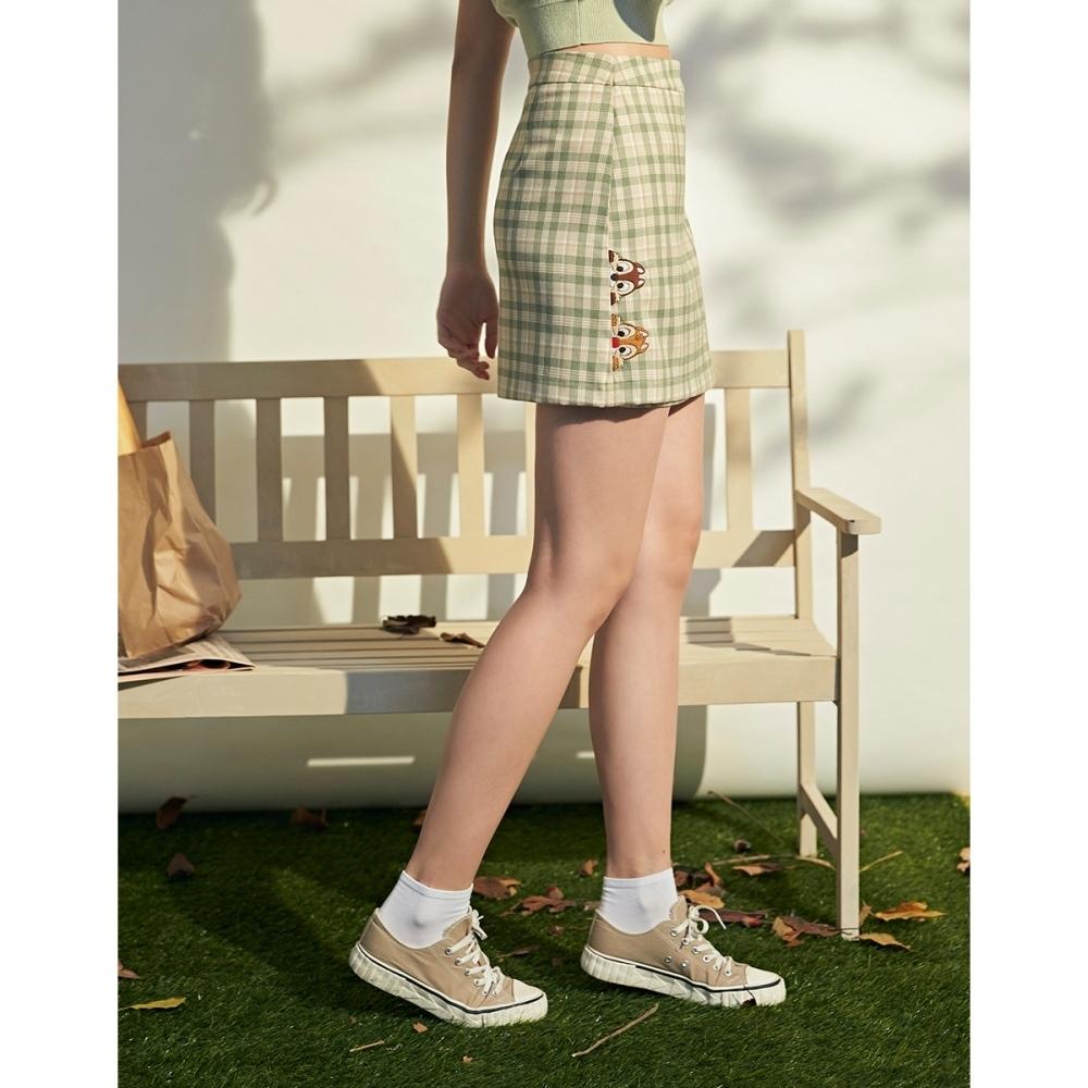 CACO-奇奇蒂蒂格紋裙(二色)-親子款-女【B2DI061】