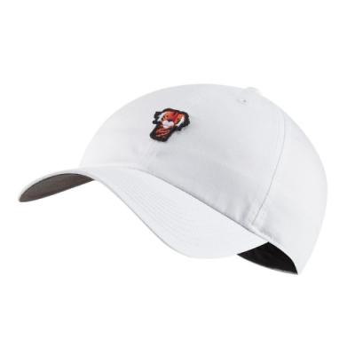 Nike 帽子 Heritage 86 Frank 男女款 高爾夫球帽 遮陽 快乾 穿搭 老虎伍茲 白 橘 BQ1309100