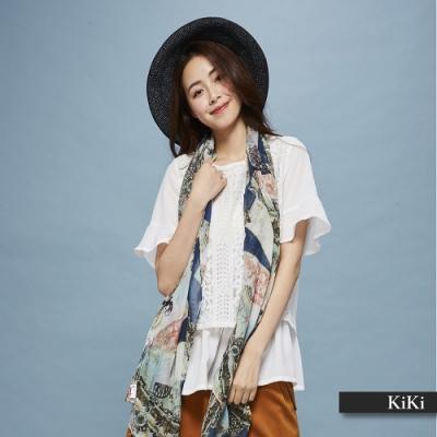 【KiKi】優雅氣質蕾絲-襯衫(二色)