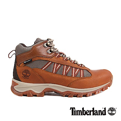 Timberland 男款咖啡色粒面皮革休閒鞋