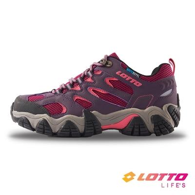 【LOTTO】義大利女 REX 防水登山踏青鞋(紫紅-LT1AWO3807)