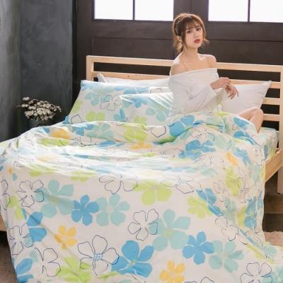 BUHO 雙人三件式精梳純棉床包組(四季花園)