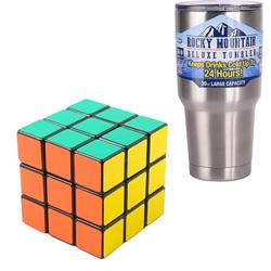 台灣製造~專業競技版3X3面魔術方塊(贈矽油)+冰霸杯組