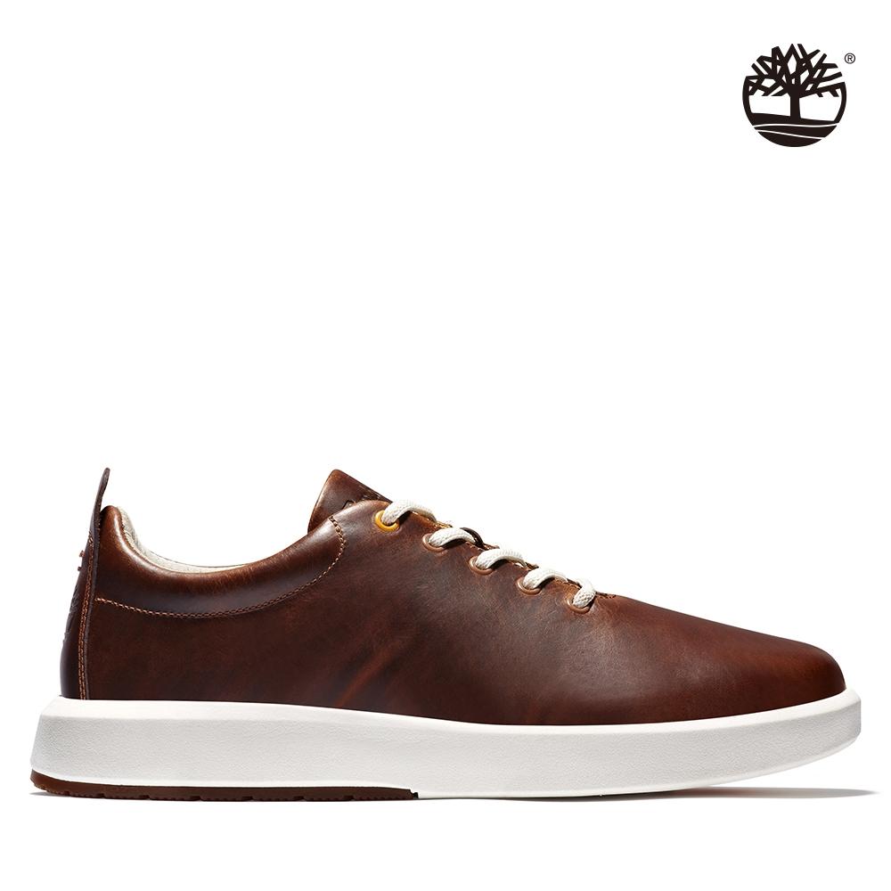 Timberland 男款鐵鏽色TrueCloud皮革休閒鞋 A24FA