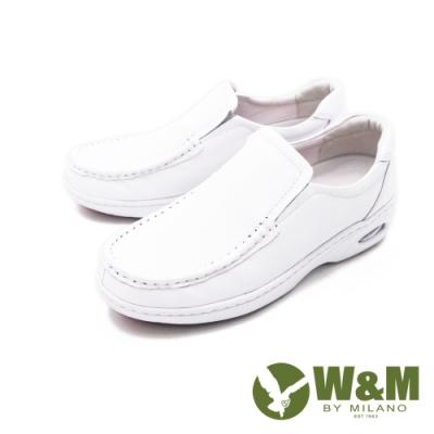 W&M 經典素面莫卡辛 樂福鞋 厚底鞋 女鞋 - 白(另有黑)