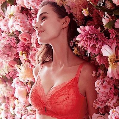推EASY SHOP-香榭花都璀璨 無鋼圈B-D罩內衣(玫瑰)