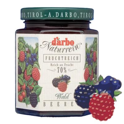 D'arbo德寶 70%果肉天然森林莓果果醬 200g