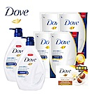 多芬 滋養柔膚沐浴乳2+4件組(1000Gx2+650MLx4)