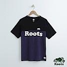 男裝Roots 撞色短袖T恤-黑