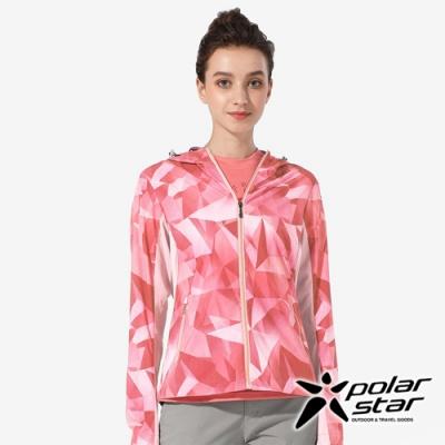 PolarStar 女 抗UV印花連帽外套『桃紅』 P20106