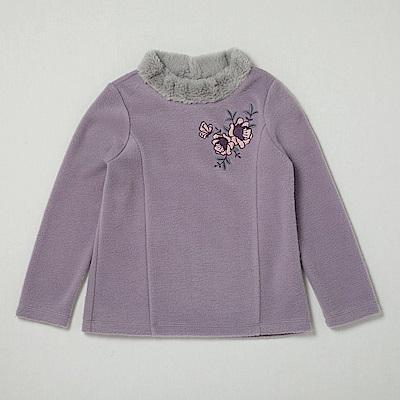 PIPPY 暖暖圍脖高領上衣 紫