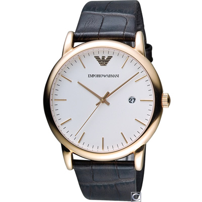 Emporio Armani  Classic 英倫簡約風時尚腕錶(AR2502)43mm