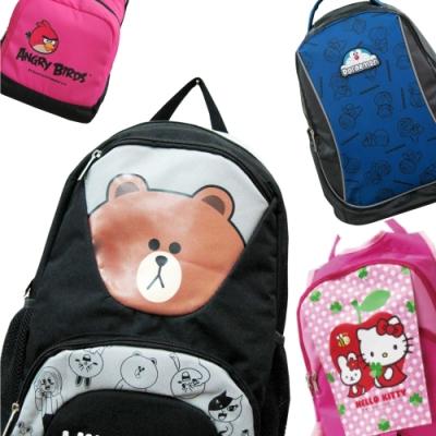 (限時特賣) 品牌授權 熊大 凱蒂貓 憤怒鳥 護脊書背包