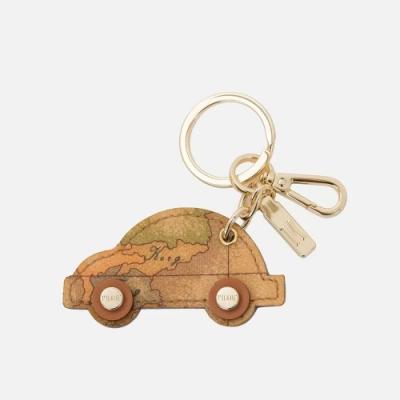 Alviero Martini 義大利地圖包 地圖汽車吊飾鑰匙圈-地圖黃
