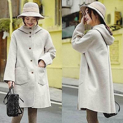連帽外套-雙面羊毛呢大衣-設計所在