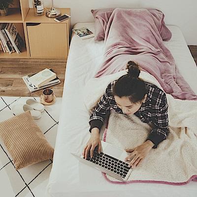 絲薇諾 紫丁香 加厚版法蘭羊羔絨睡袋毯(1.64kg)