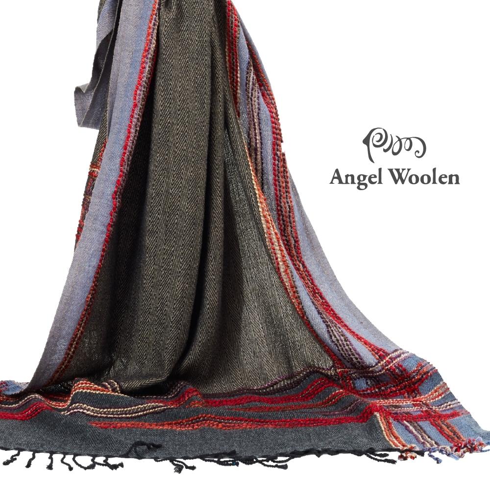 【ANGEL WOOLEN】印度手工編織披肩(格趣)