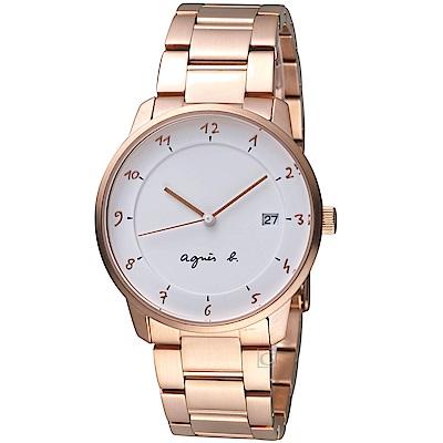 agnes b.法國時尚簡約腕錶 VJ42-KZ30P  BS9002J1