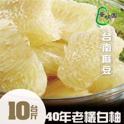 普明園‧台南麻豆40年大白柚(10台斤/箱)
