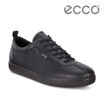 ECCO SOFT1 防水簡約休閒鞋 黑