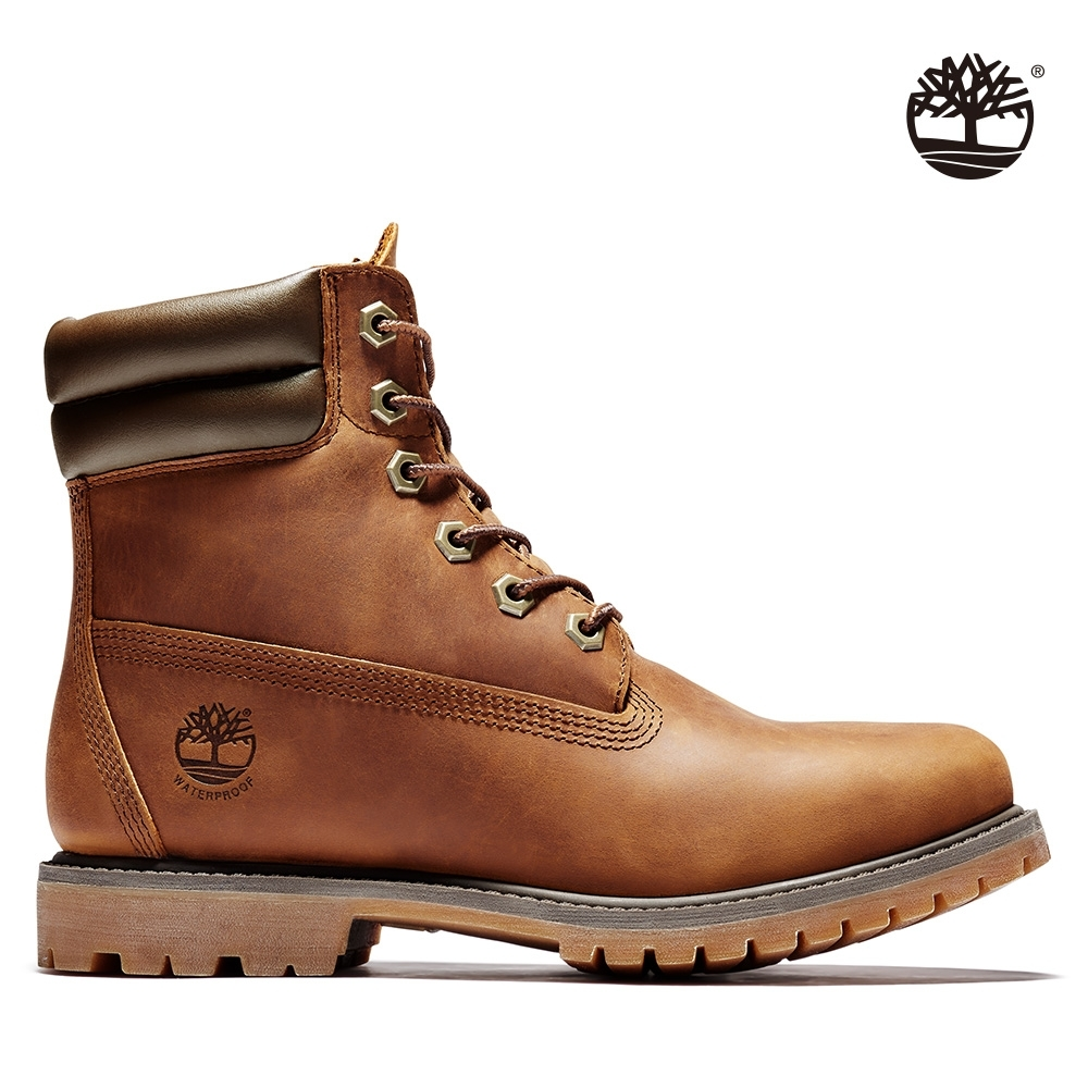 Timberland 女款中棕色全粒面經典防水6吋靴|8305R