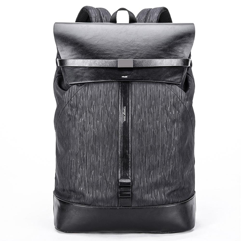 leaper時尚休閒防潑水15.6吋電腦後背包 黑色