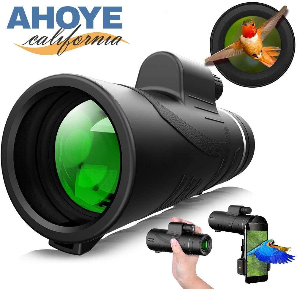 Ahoye 40X60防水單筒望遠鏡 (附手機拍攝夾)