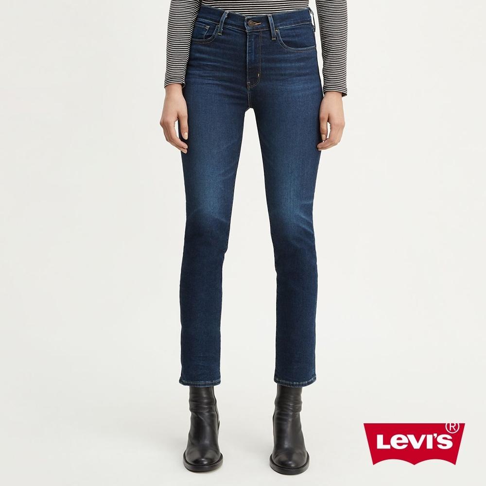 Levis 女款 724 高腰修身直筒牛仔褲 Orta丹寧 彈性柔軟及踝款