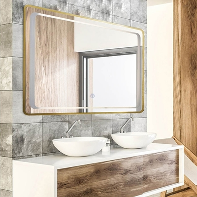 H&R安室家 慕尼黑 智能LED發光觸控燈鏡 ZA0198(掛鏡/浴鏡/化妝鏡/鏡子)