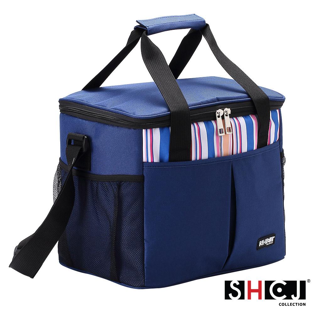 SHCJ生活采家戶外野營30L肩背手提方型保溫袋(特大)