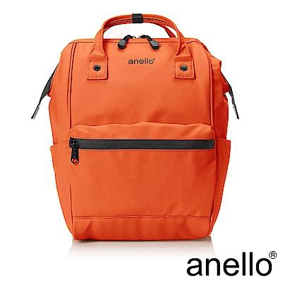 anello 率性簡約膠感防潑水後背包 亮橘 M