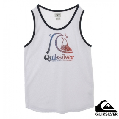 【QUIKSILVER】BEACH PILE CAPTAIN SLIM TANK背心白