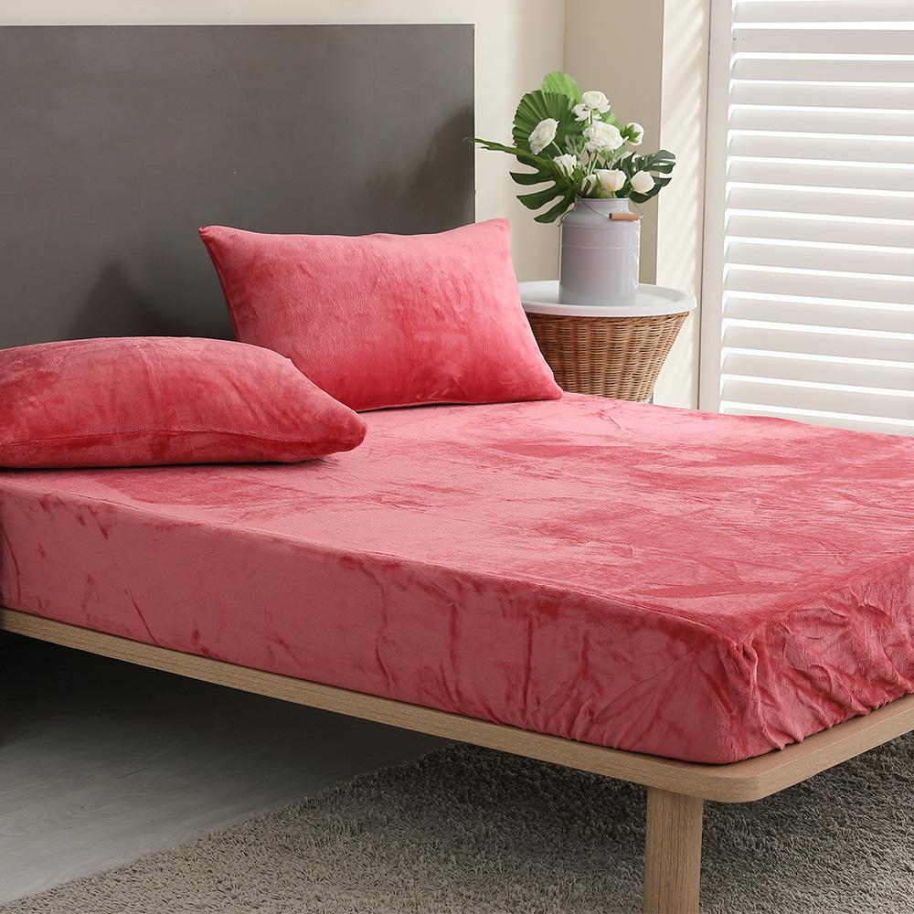 岱思夢 素色 法蘭絨床包枕套組 玩色主義 單/雙/大均價 product image 1