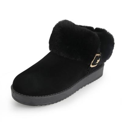 [時時樂限定]KEITH-WILL時尚鞋館 韓系暖冬機能絨毛平底靴(3色可選)