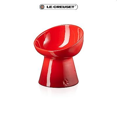 [結帳7折] LE CREUSET 瓷器寵物碗-櫻桃紅