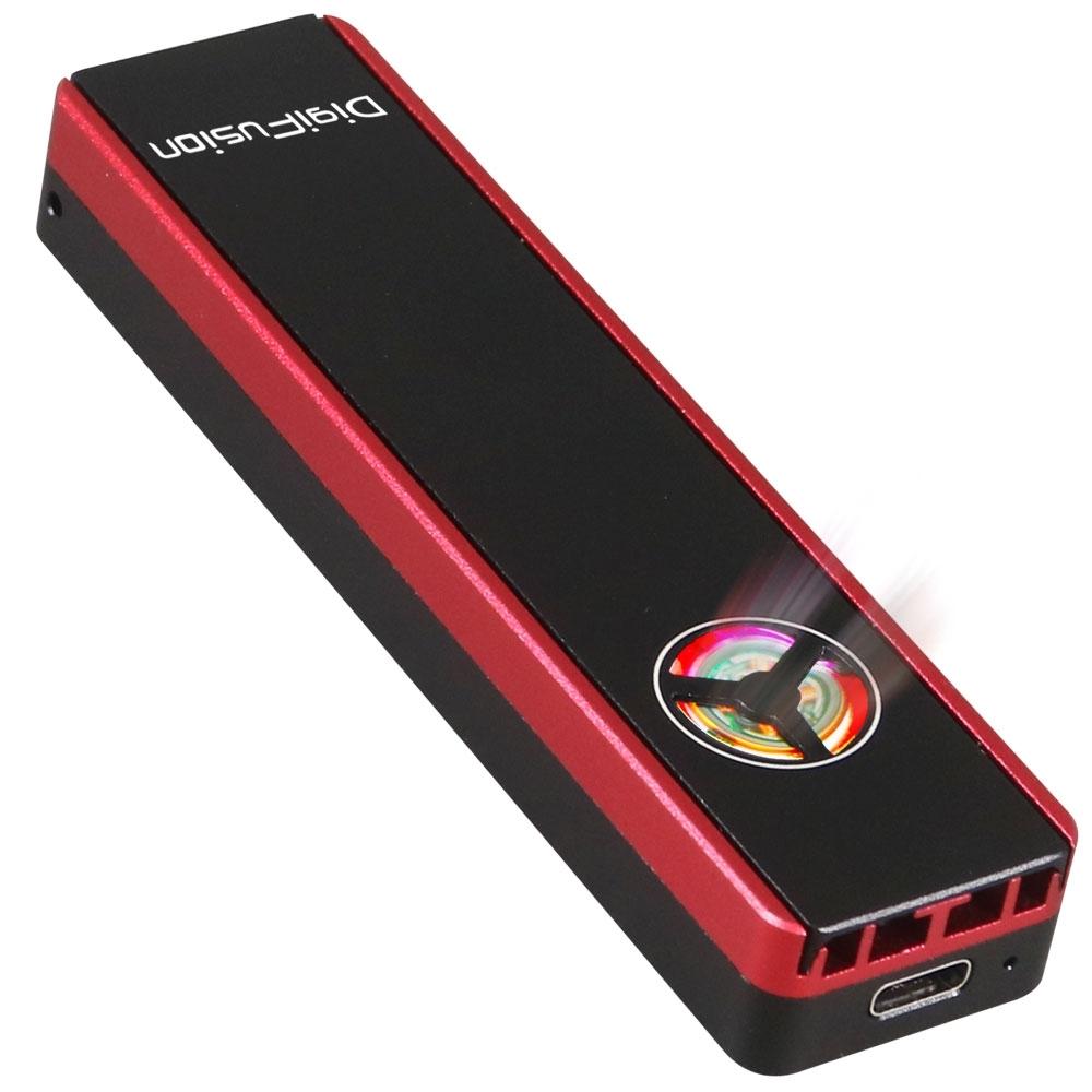 伽利略 M.2 雙規 SSD to USB3.2 Gen2 鋁合金 含散熱風扇