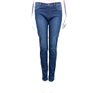 LOVE MOSCHINO 女孩刺繡貼圖深藍刷色丹寧牛仔褲