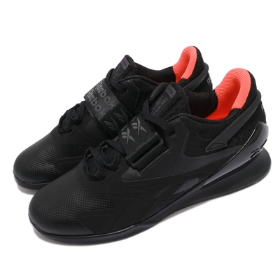 Reebok 訓練鞋 Legacy Lifter II 運動 男鞋 健身房 重量訓練 穩定 支撐 球鞋 黑 橘 FY3538