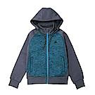 ZEPRO 兒童撞色休閒刷毛外套-藍綠