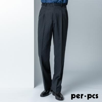 per-pcs 都會時尚條紋西裝褲_黑條紋(806216)