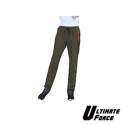 Ultimate Force「越野」女款防潑水彈力登山褲(軍綠色)