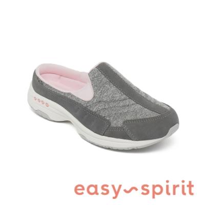 Easy Spirit-seTRAVELTIME529 舒適牛皮休閒包覆拖鞋-灰色