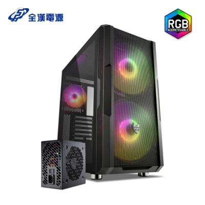 【超殺套餐】FSP 全漢 CMT540 黑 全鐵網 ARGB 20cm風扇 超散熱機殼+ 黑爵士D 550W 電源供應器